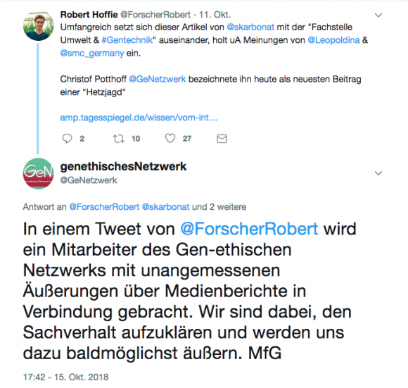 Tweet von @ForscherRobert
